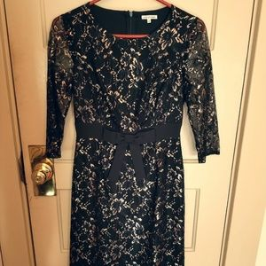 Black and gold lace dress by Lace & Mesh